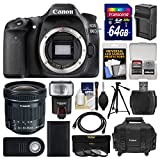 #6: Canon EOS 80D Wi-Fi Digital SLR Camera Body with 10-18mm IS STM Lens + 64GB Card + Case + Flash + Battery/Charger + Tripod + Kit
