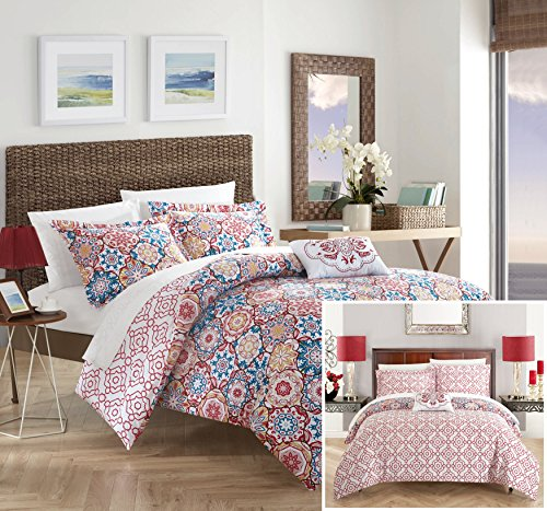 Chic Home 3 Stück Quilt Set, Pink, Twin