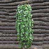 GEEDIAR Künstliche Efeuranke Weinrebe Blätter Zweige Kunstpflanzen Traube Efeu Blätter Deko, ca. 90cm lang