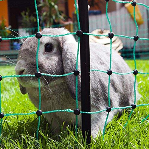 *Kaninchennetz Elektrozaun 12 Meter elektrifizierbarer Gartenzaun für Kaninchen/Nagetiere/Hasen*