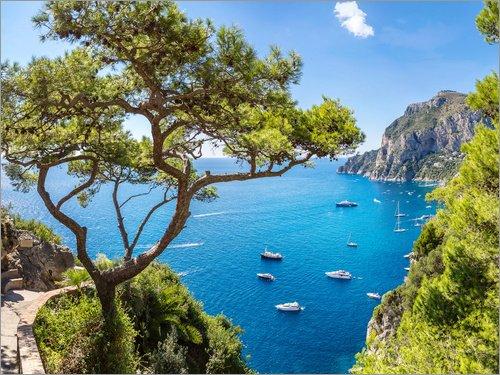 Posterlounge Acrylglasbild 80 x 60 cm: schöner Sommer auf Capri von Editors Choice - Wandbild, Acryl Glasbild, Druck auf Acryl Glas Bild Sommer-editor