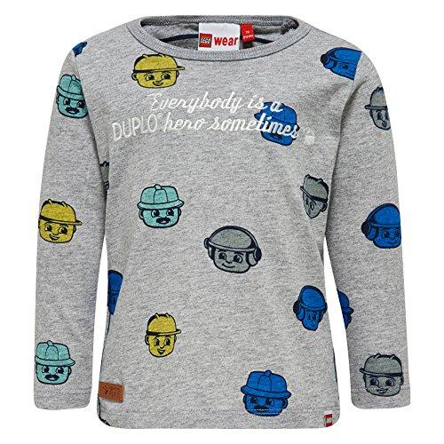 LEGO Wear Baby-Jungen Duplo Texas 308-Langarmshirt, Grau (Grey Melange 912), 86