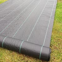 Yuzet 09-001002-01-00 1m x 50m 100g Weed Control Ground Cover Membrane Landscape Fabric Heavy Duty