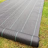 Yuzet 09-001006-00-10 2m x 10m 100g Weed Control Ground Cover Membrane Landscape Fabric Heavy Duty - Yuzet - amazon.co.uk