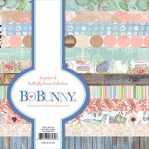 BoBunny Bo Bunny einseitig Papier Pad 6x 63butterfly Kisses, 12Designs/3Jedes, Acryl, mehrfarbig, 3-teilig
