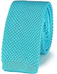 Cravate tricot BLEU CIEL uni