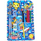 GTC School Stationery Kit For Kids (Pencil, Sharpener, Rubber, Color Pencil,Diary) ITN885 (Pack Of 20, Blue)