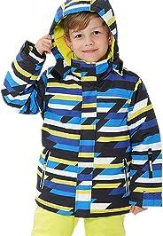 HILEELANG Kids Boy Girl Snow Ski Jacket Waterproof Snowsuit Fleece Puffer Coat Hooded Windbreaker Outdoor Sport Outwear