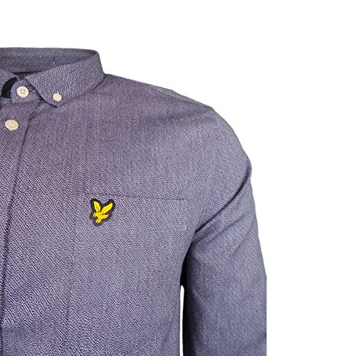 Lyle and Scott Twill Mouline Shirt in Navy Navy
