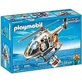 Playmobil Guardacostas - Helicóptero de extinción de incendios, playset (5542)