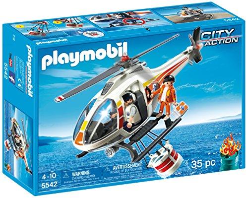Playmobil Coastguard - Helicopter firefighting, playset (5542)