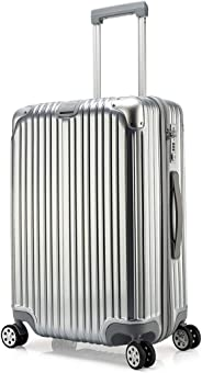 Kroeus ABS Hardshell Luggage Suitcase Spinner Carry On TSA Lock 28 Inch Silver