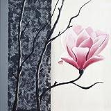 Artland Qualitätsbilder I Glasbilder Deko Glas Bilder 20 x 20 cm Botanik Blumen Magnolie Malerei Schwarz Weiß C5BY Magnolie blühend