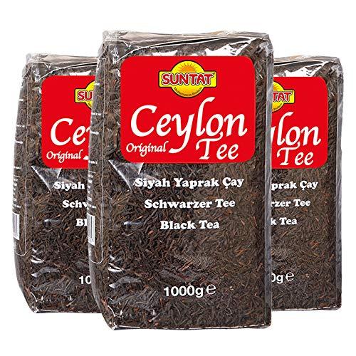 Suntat Ceylon Tee Original Schwarzer Tee,1000g, 3er Pack -