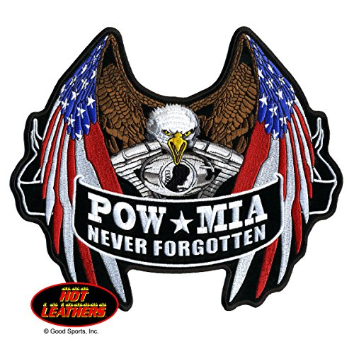 pow-mia-never-forgotten-flag-eagle-embroidered-iron-on-saw-on-rayon-patch-10-x-9