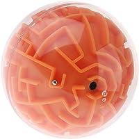 Sharplace Boule Labyrinthe 3D Maze Ball Magique Puzzle Cerveau Jouet Educatif Enfant - Orange (Difficulté des médias)