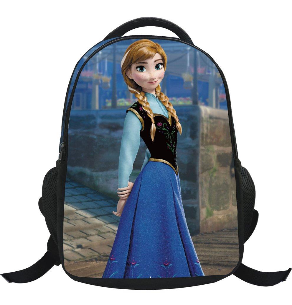 MissFox Zainetto Asilo Ragazze Zaino Frozen Principesse Anna E Elsa E Olaf Backpack School Bag A12