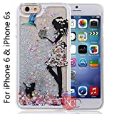 KC Shiny Waterfall Motion Bling Glitter Sparkle Case Liquid Crystal Transparent Hard Back