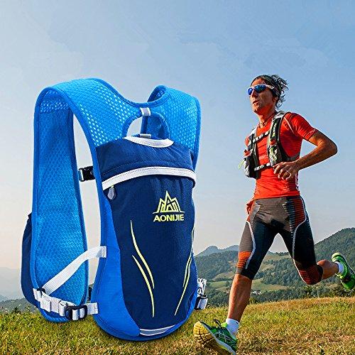 Lanlan Sport Tasche Outdoor Outdoor Mochilas Trail Marathoner Running Race Hydration Weste Hydration Pack Rucksack 2L grau