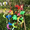 NF&E 37 Inch Rainbow Windsock, Spiral Windmill, Made of Nylon, UV \u0026 Waterproof, 94 X 23 cm, Decoration for Tent, Garden, House, Yard Etc