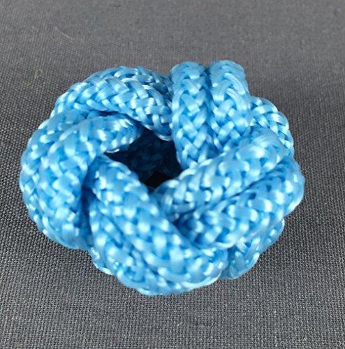 Makrameeknoten hellblau für Halstuch