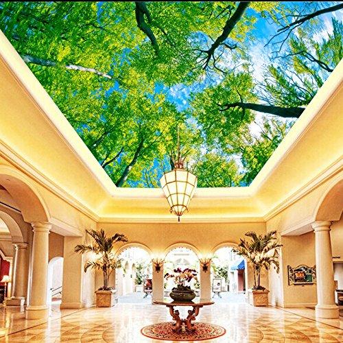 gsly-sfondi-alberi-europei-3d-senza-cuciture-antipolvere-ambientale-il-soffitto-del-cielo-blu-soffit