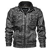 Best veste Zicac - Zicac Blouson Moto Jacket Homme en Cuir Multi-Poches Review