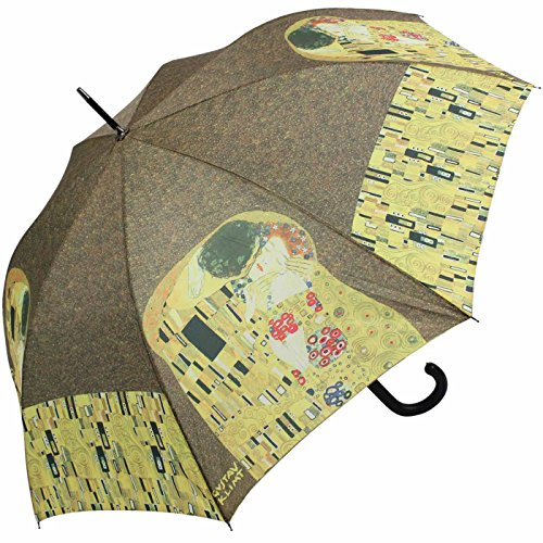 Regenschirm Schirm Automatik - Gustav Klimt Der Kuss (Regenschirm Gustav Klimt)