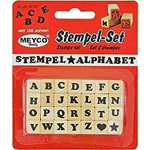 Juego de sellos de letras