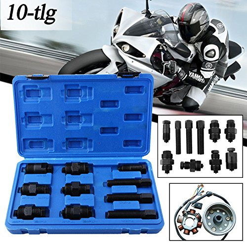 Preisvergleich Produktbild 10-tlg Polradabzieher Schwungrad Abzieher Satz für Roller Motorrad Fahrrad