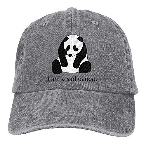 Aoliaoyudonggha I Am Sad Panda Unisex Adjustable Baseball Caps Denim Hats Cowboy Sport Outdoor