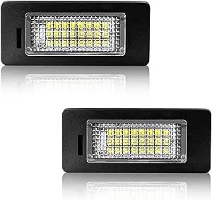 Safego Led Kennzeichenleuchte Für E39 12v 6000k Xenon Weiß Nummernschildbeleuchtung E46 E61 E60 E90 E91 E92 E93 F30 F31 2 Stück 1 Jahr Garantie Auto