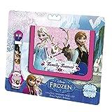 Disney: Die Eiskönigin Armbanduhr + Geldbörse Geschenkset Kinder Uhr Anna Elsa
