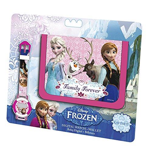 Disney Frozen - Set Regalo Portafoglio + Orologio