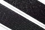 dalipo 18003 - Klettband selbstklebend - Farbe: schwarz - Breite: 50 mm