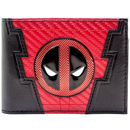 Marvel Deadpool 2 Carbon-Anzug-Stil Schwarz Portemonnaie Geldbörse (Deadpool Videospiel Kostüm)