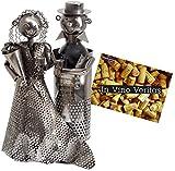 BRUBAKER portabottiglie dal design coppia di sposi