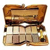 Eye Shadow - SODIAL(R)Diamond Bright Colorful Makeup Eye Shadow Super Make Up Set Flash Glitter Eyeshadow Palette With Brush(5#)