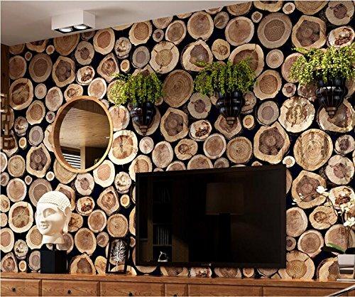 Stumpf Holz (Weaeo Holz Stumpf Mit Holzmaserung Verdickung Pvc-Tapeten Cafe Hintergrund Braun)