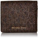 Michael Michael Kors Womens Mk Jet Set Travel Signature Leather Wallet Brown