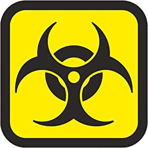 Easydruck24de 1 Aufkleber Biohazard I Kfz 213 I 10 X 10 Cm Groß I Warnung Vor Biogefährdung I Sticker Warnaufkleber Gefahren Symbol I Schwarz Gelb Auto