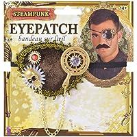 Bristol Novelty MD236 Steampunk Eye Patch, Mens, Multi-Colour, One Size