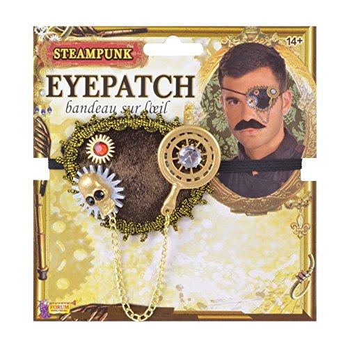 Bristol Novelty MD236Steampunk Eye Patch, Herren, Mehrfarbig, One ()