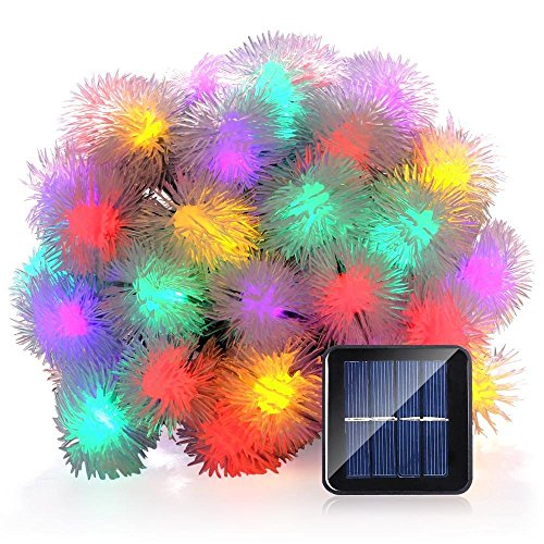 SUAVER 16ft/20LED Solar Lichterkette Garten Chuzzle Ball Outdoor Solarlampe für Outdoor Party, Haus Dekoration, Hochzeit, Weihnachten, Feier Festakt (Multi-color)
