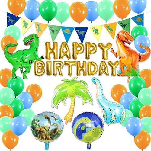 Dinosaurier Geburtstag Party Dekoration Ballons Lieferungen Dinosaurier-Partyzubehör, Dinosaurier-Geburtstags-Dekorationen Dino-Dschungel-Jurassic-Dekorationen für Kinderglückliche Geburtstagsfeier