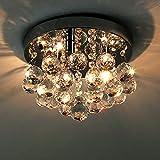 Natsen LED Kristall Deckenleuchte Deckenlampe Hängenleuchte 3-flammig  25cm G9 Lieferung Inkl. Leuchtemittel