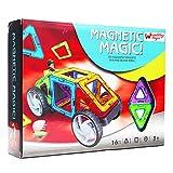 #3: Wembley 3D Magnetic Magic Building Blocks Car Set, Clear Multi Color (16pcs)