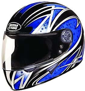 Studds Chrome Super D2 Full Face Helmet (Black N1, L)