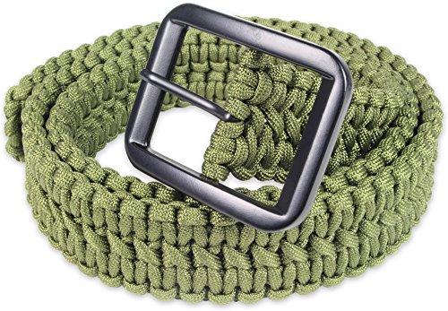 Paracord Gürtel mit Metallschnalle für Fallenbau oder Gepäcksicherung OLIV
