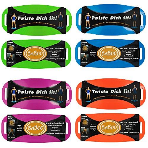 BaBoo Balance Board, DAS ORIGINAL. Das 3 in 1 Fitness Board mit dem Twist. Der Fitnesstrend aus den USA in verschiedenen Farben (lila)